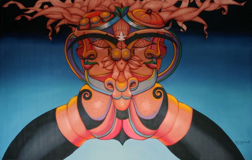 AMUR'arte, óleo sobre tela, 73 X 115 pulgadas, 10900 CAD